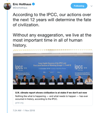 Does the IPCC say we have until 2030 to avoid catastrophic